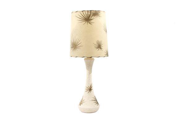Atomic Lamp - Mid Century Table Lamp - Starburst Ceramic Bedside Lamp - Plasto