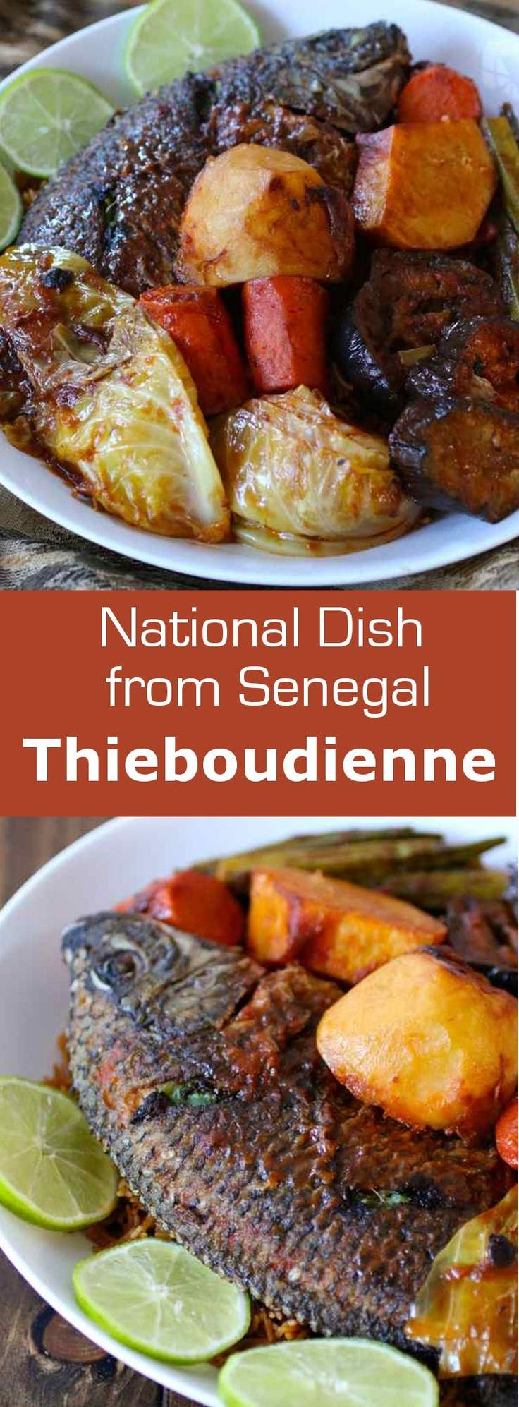 Thieboudienne Is the Senegalese national dish. It is prepared with rice, fish, vegetables, tomatoes and various spices like nététou. #Senegal #Africa #196flavors