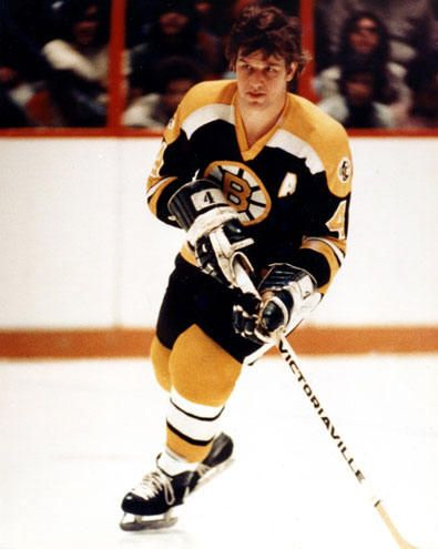 Bobby Orr - he's the reason I got into hockey in the first place - loved him when I was a kid! CRAZY no helmets back then!!