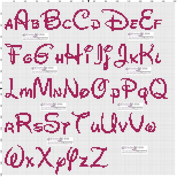 Oltre 25 fantastiche idee su alfabeto disney su pinterest for Alfabeto disney a punto croce