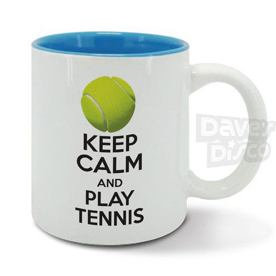 KEEP Calm and play TENNIS player gym racquet sport by davesdisco