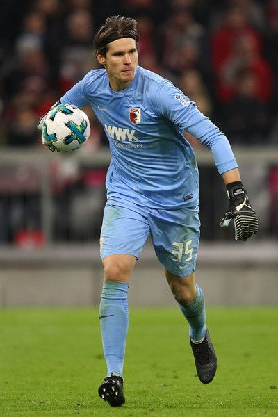 Marwin Hitz of Augsburg during the Bundesliga match between FC Bayern Muenchen and FC Augsburg at Allianz Arena on November 18, 2017 in Munich, Germany. - 93 of 204