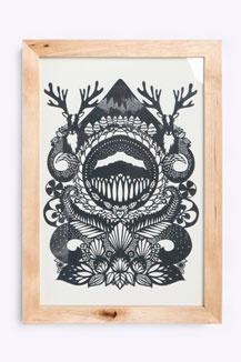 Stag By Emily Hogarth Framed Print