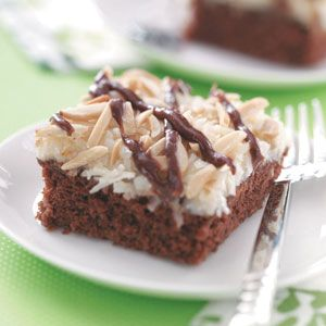 Best Coconut Chocolate Cake Recipe from Taste of Home -- shared by Dorothy West of Nacogdoches, Texas