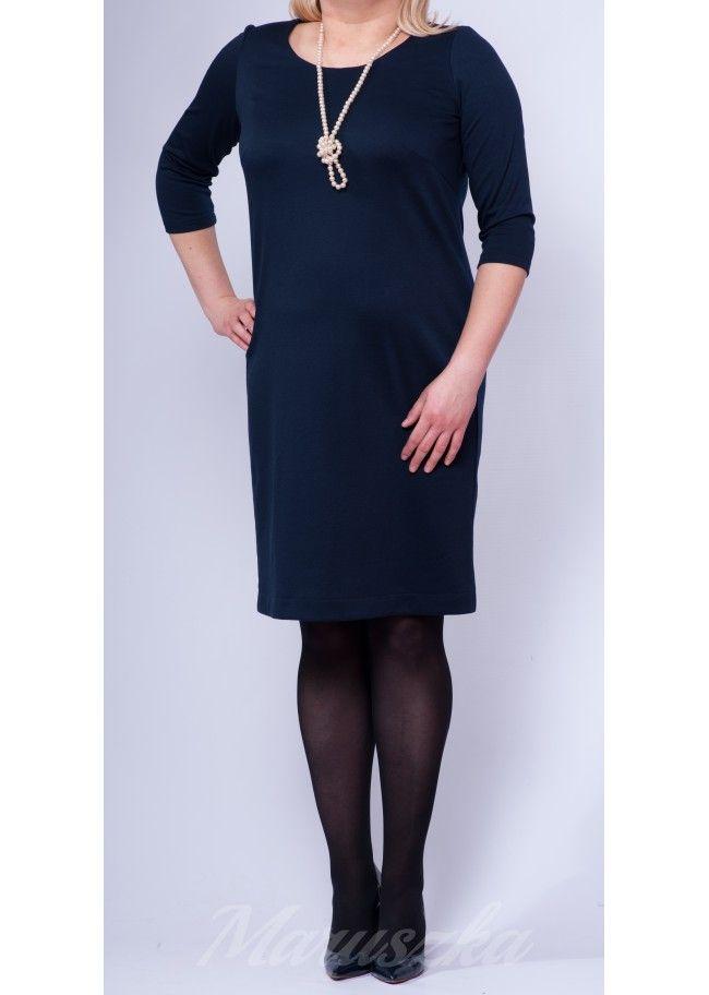 Dress RITA DARK BLUE - Plus Size. 40$/EUR + shipping cost