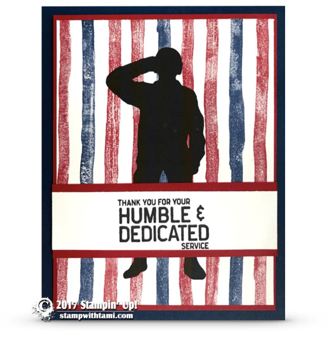 ONLINE CLASS & VIDEO: How to make a Patriotic Loyal and True Service Card