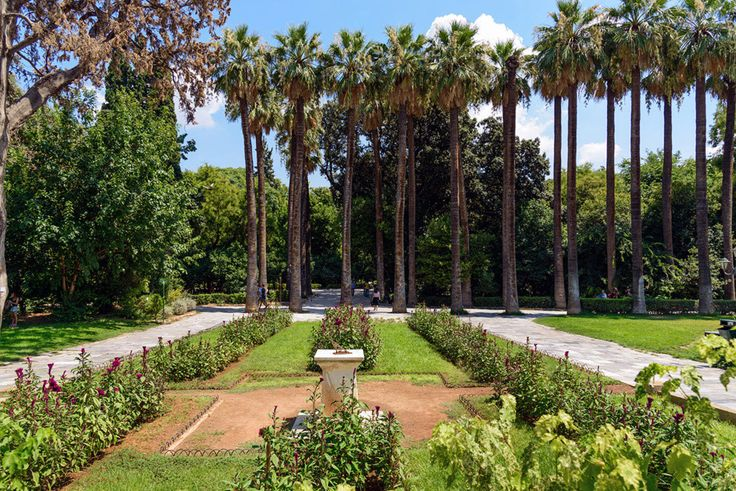 The lush National Gardens in the heart of the city