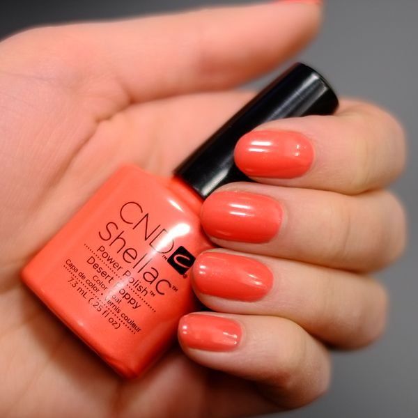 CND Shellac Desert Poppy. This is a gorgeous summer coral!