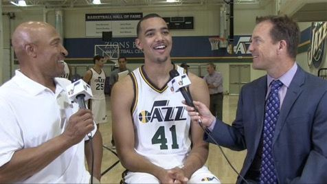 Trey Lyles at the Jazz Media Days on 9/28/15.