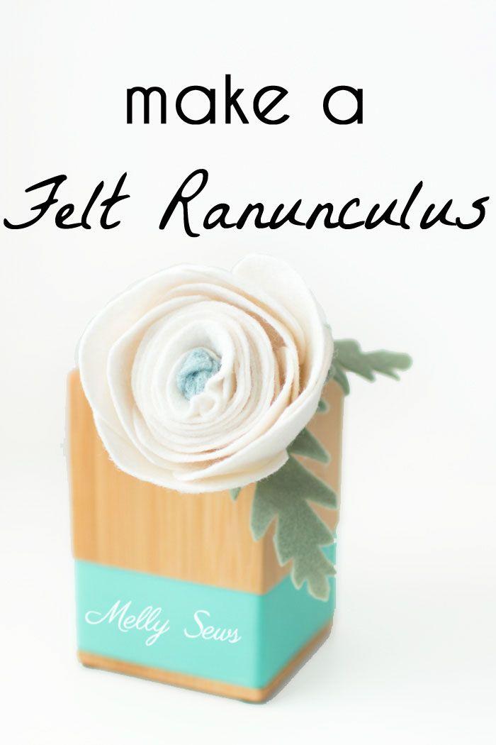 Make a felt ranunculus - would be so pretty for a felt bouquet!