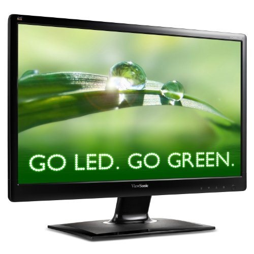 The ViewSonic VA2406m-LED features a LED backlight 24″ (23.6″viewable) thin bezel widescreen monitor with integrated speakers. Environmentally friendly mercury-free design offers Full HD 1920×1080 resolution, 10,000,000:1 MEGA Dynamic Contrast Ratio, DVI and VGA inputs, 5ms response time, VESA mountable glossy finish design. The auto aspect ratio adjust feature automatically senses the input signal and will not stretch a 4:3 signal but instead will position the image in the middle of the…