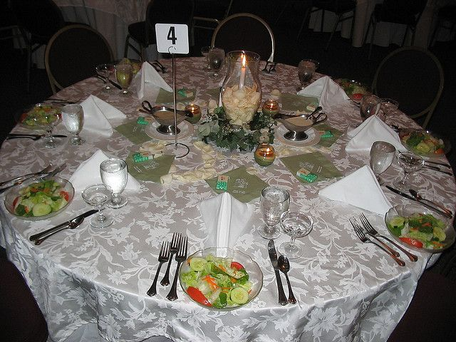 How To Decorate A Wedding Reception Food Table