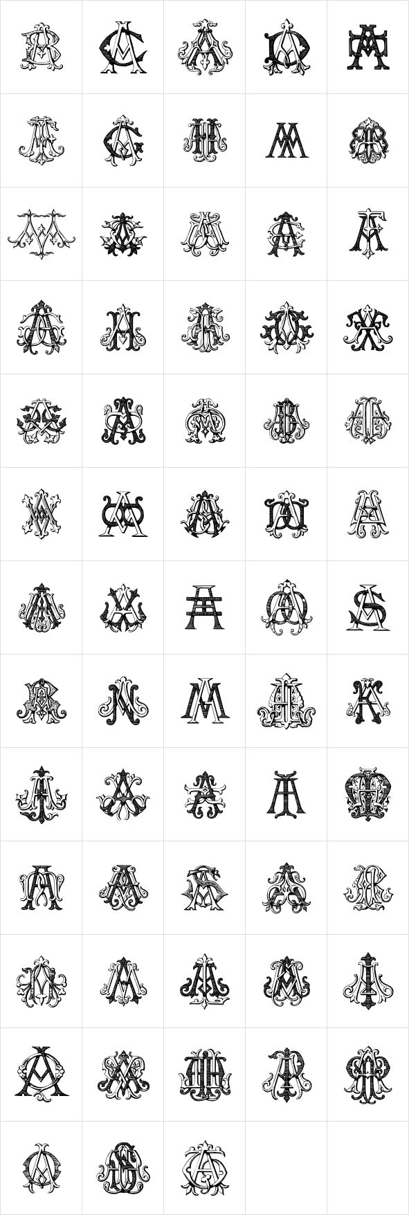 Intellecta Monograms by Intellecta Design - Desktop Font, WebFont and Mobile Font - YouWorkForThem