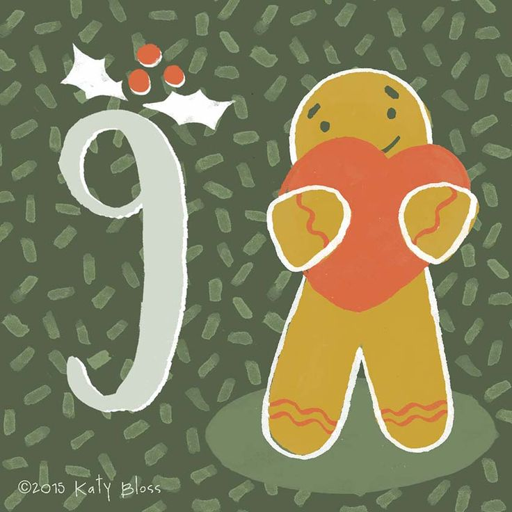 Katy Bloss Illustrated Advent Calendar Day 9
