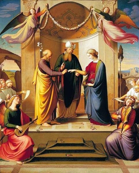Johann Friedrich Overbeck (4 iulie 1789 – 1869), pictor nazarinean German - Marriage of the Virgin