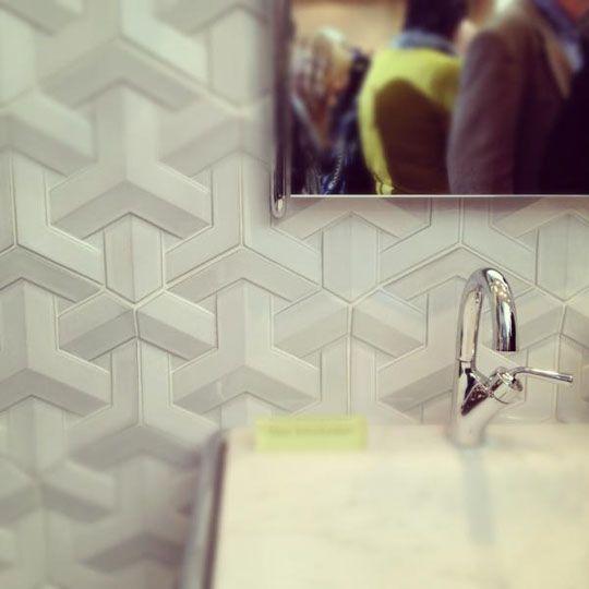 Really awesome geometric tile by Daniel Ogassian for Ann Sacks.Tattoo Ideas, Geometric Bathroom Tile, Flooring Tile Backsplash, Floors Tile Backsplash, Wall Tile, Geometric Tile
