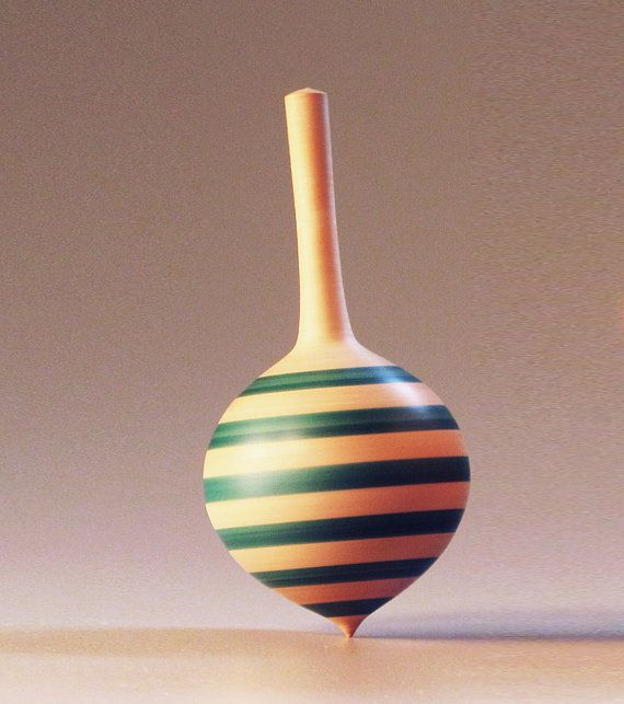 Spinning top toy Radish shape by davidturnsbowls on Etsy, $12.00