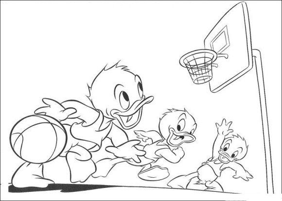 disney cartoon basketball coloring pages 580x414jpg 580