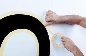 Círculo perfecto realizado con cinta rugosa