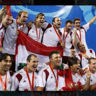 Hungarian National Waterpolo Team. Hungary is a 9 time olympic champion in waterpolo, including the last 3 olympics, gold in Sydney in 2000, gold in Athens in 2004, gold in Beijing 2008. National Pride <3