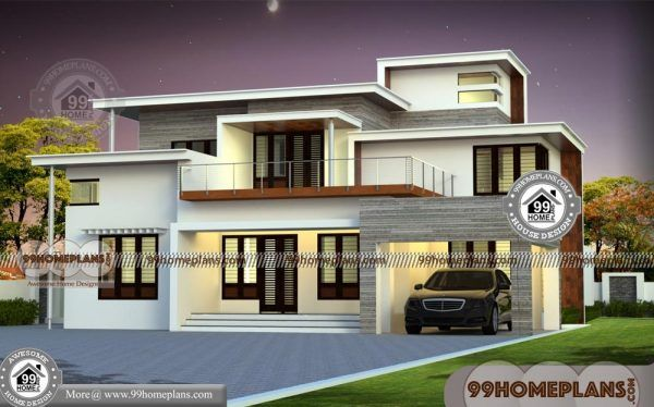 Flat Top House Plans With Double Floor Ultra Modern Simple Collections Bungalow House Design Bungalow Design House Plans