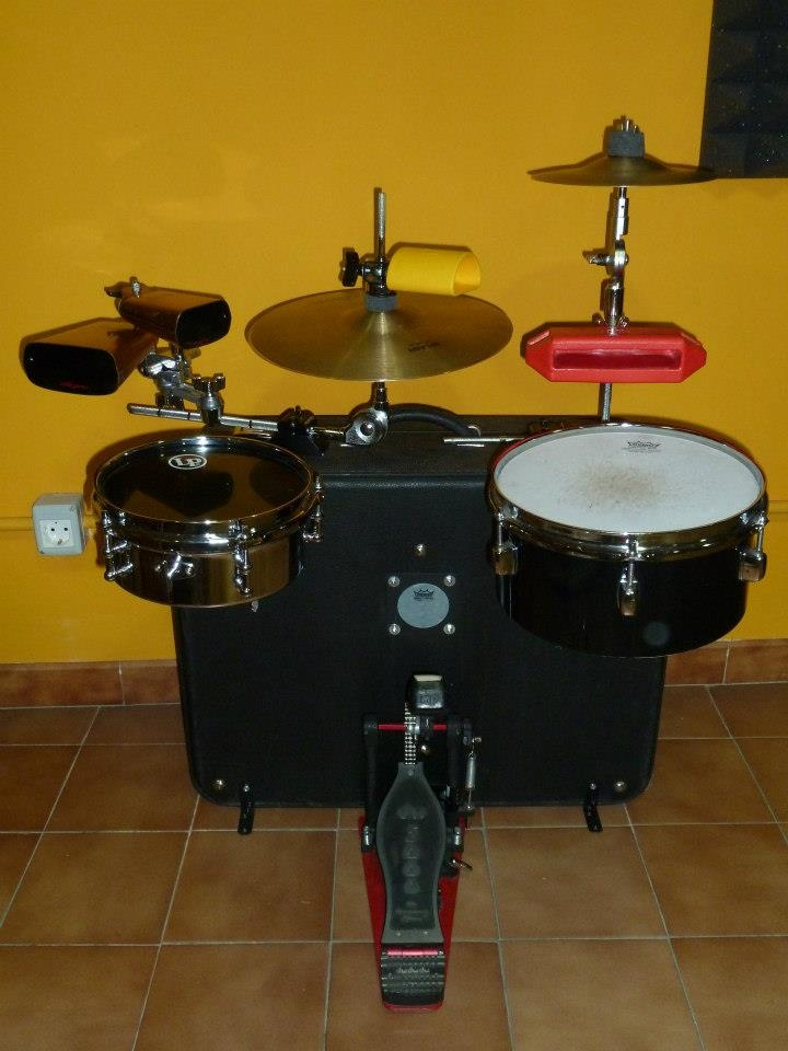 Drumset Hand made in a luggage bag...