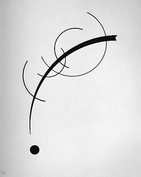 Free Curve to the Point - Accompanying Sound of Geometric Curves / Vasily Kandinsky / 1925 / Ink on paper