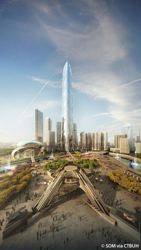 Guizhou Culture Plaza Tower, Guiyang-China | 521 m, proposed 2010 | SOM