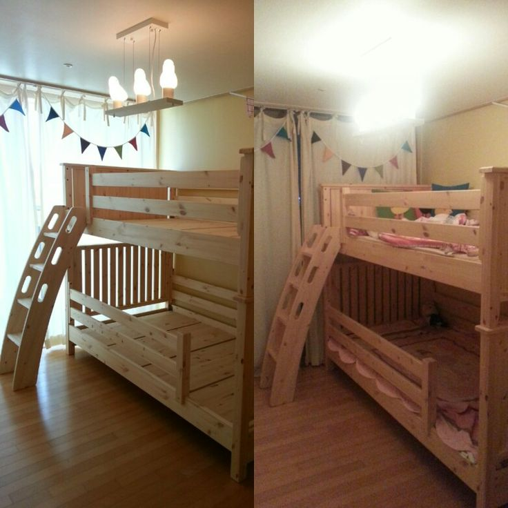 이층침대 설치 후 낮과 밤~♡ A day and night in the kid's room with lovely wood bunkbed~♡   발도로프 가구  Baldorf furniture  1899-7781  010-6507-7276 (+82-10-6507-7276)  www.baldorf.co.kr    #이층침대 #벙커침대인테리어 #벙커침대 #단층침대 #레드파인 #수제가구 #2층침대 #어린이가구 #아이방인테리어 #아동침대 #원목가구 #아이방꾸미기 #아이방침대 #어린이침대 #친환경원목가구 #가구공방 #가구 #가구제작 #가구인테리어 #가구리폼 #원목침대 #bunkbed #kidsroom #kid #kids #instakids #furniture  #furnitureinterior  #furnituredesign #bed