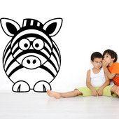 Zebra - seinätarra | Sisustustarrat ja seinätarrat - Dr. Decor