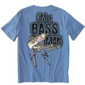 I'm A Bass Man - Bigger the Better - Old Country Outfitters $13.95  bass fishing clothes, bass fishing, bass fishing shirt