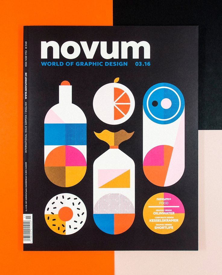 Novum, food issue. Cover by Martín Azambuja, 2016.