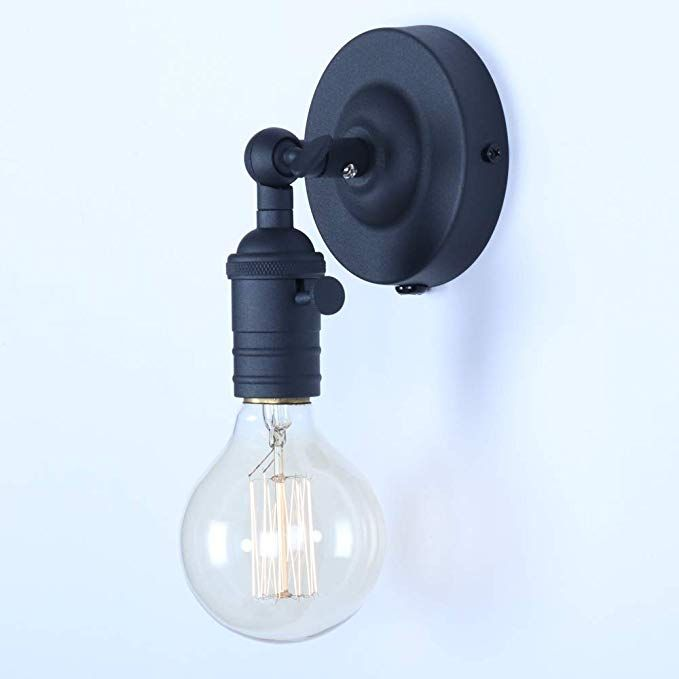 Mini Wall Sconce Fixture Xiding Upgrade Black Finish Vintage Wall