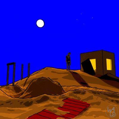 Escena con luna
