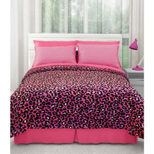 your zone royal plush blanket, pink cheetah
