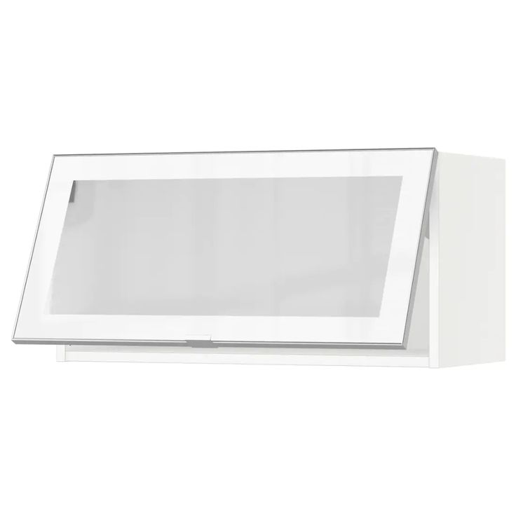 SEKTION Horizontal wall cabinet/glass door - white, Jutis ...