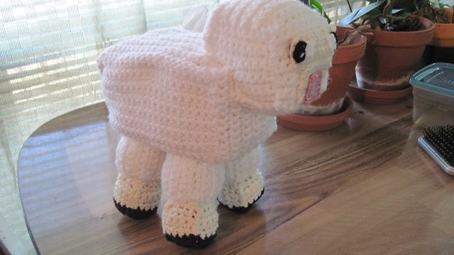 http://www.ravelry.com/patterns/library/minecraft-sheep-to-crochet