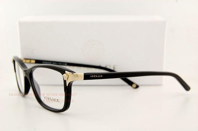 Brand New VERSACE Eyeglasses Frames 3156 GB1 BLACK for ...