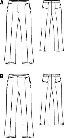 Burda Pants 10/2014 #109B