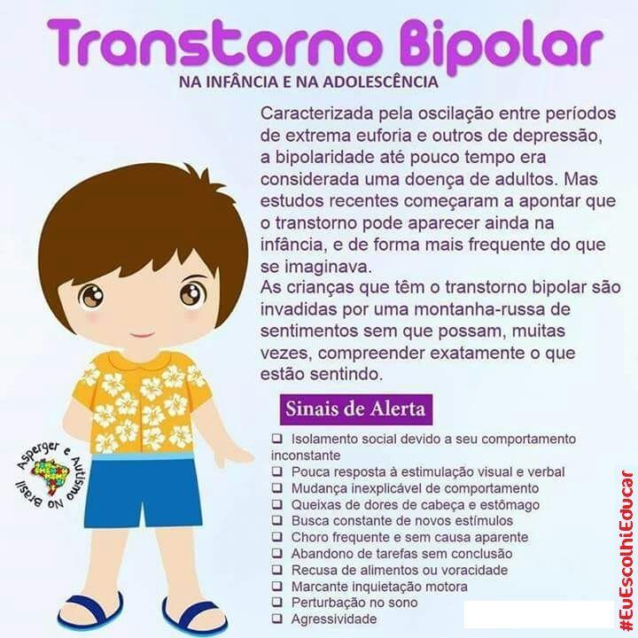 O que é Transtorno Bipolar?    #transtornobipolar    Existem alguns problemas que envolvem a infância e a qual precisamos conhecer, para ajudar as crianças e adolescentes a nossa volta. Vamos postar nos próximos dias: Dislexia, Autismo, Síndrome de Tourett, Síndrome de Asperger, Transtorno do Déficit de Atenção com Hiperatividade (TDAH), Transtorno Bipolar, Transtorno Opositivo Desafiador (TOD), Altas Habilidades, e Esquizofrenia Infantil.    Lembramos que um outro problema, que é uma…