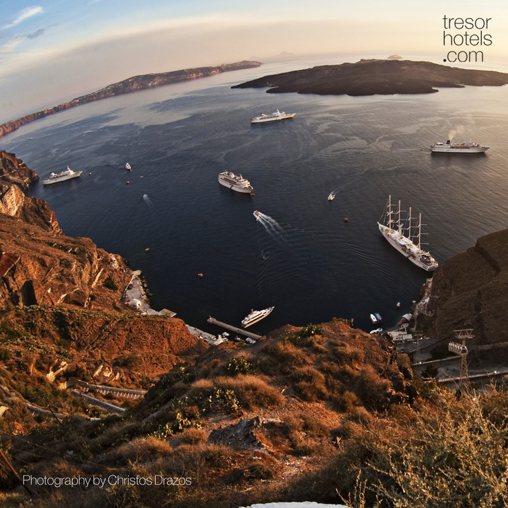 Trésor Hotels and Resorts_Luxury Boutique Hotels_#Greece_#Santorini_It is said that one visit to #Santorini is enough.The stunning white, the volcanic landscapes and the enchanting blue of the Cyclades are perfectly matched and create images that words cannot easily describe...