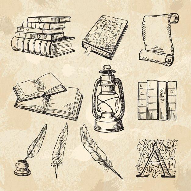 Imagenes Del Concepto De Literatura Lib Premium Vector Freepik Vector Vintage Abstracto Libro Mano Libro Dibujo Literatura Dibujos Tatuaje Libro