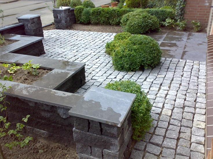 voortuin met graniet