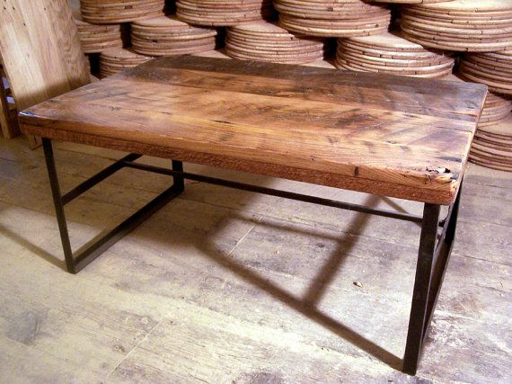 Reclaimed wormy chestnut coffee table with by BarnWoodFurniture, $385.00