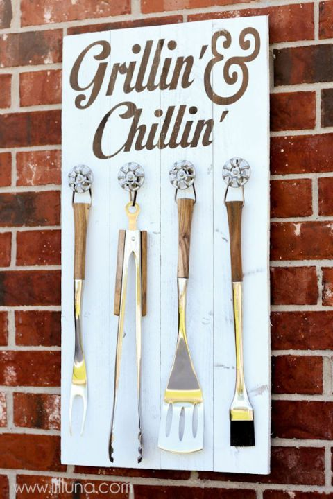 Blogger Kristyn teamed up with her husband to create this functional yet stylish way to store grilling tools. If you're a frequent griller, like they are, having the supplies easily accessible and organized will make your next barbecue even better. Get the tutorial at Lil' Luna.