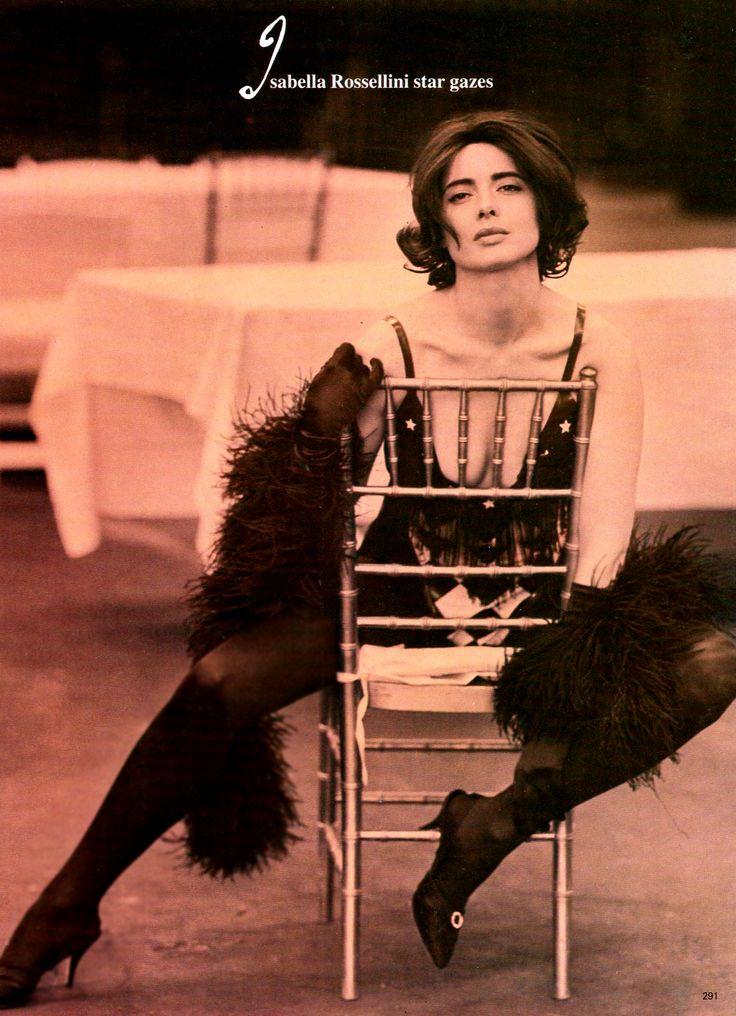 Isabella Rossellini in custom made harlequin leotard. Vogue 1988.