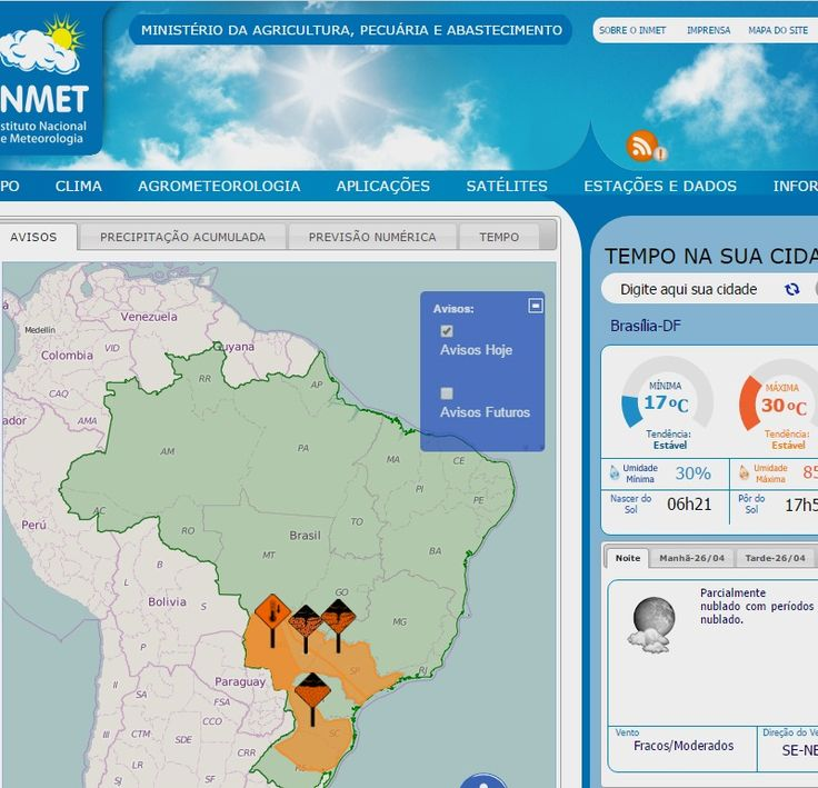 :: INMET - Instituto Nacional de Meteorologia ::