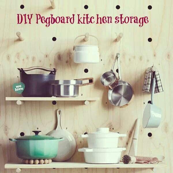 kitchen pegboard - Kitchen Pegboard Ideas