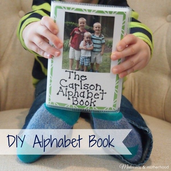 DIY Alphabet Book - Make your own with these easy tips from Makeovers and Motherhood.