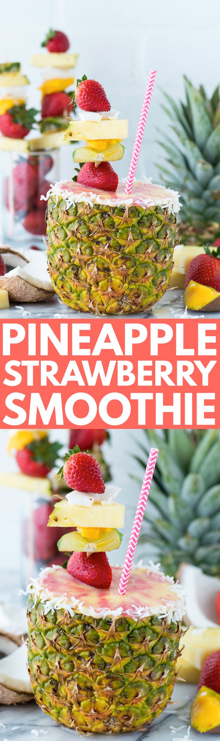 Pineapple Strawberry Smoothie in a Pineapple Cup | Recipe | Smoothie ...